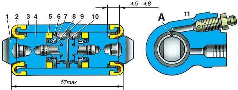 Фото №9 - устройство главного тормозного цилиндра ВАЗ 2110
